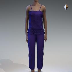 Violet beaded romper