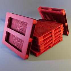 Red Plastic Pallet