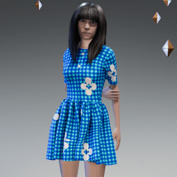 Checked Summer Button Dress