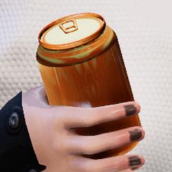 Bottle g-gold in arm
