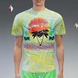 Spot-Yellow California Dream Pocket T-Shirt - Male