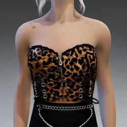 """Gothic Top """"Celly"""" with Leo Print"""