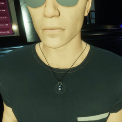 HoverDerby - Silver atom necklace (male)