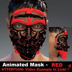 Animated Mask: Red - Male Avatars
