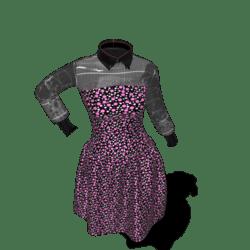 gothic polka dote dress
