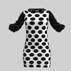 Polka Dot Mama Shorty Dress