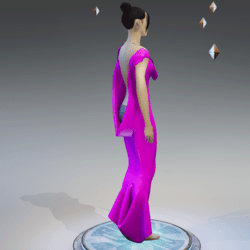 Elegant Extremely Low Back Dress PINK