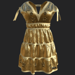 DROMA DRESS GOLDEN