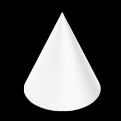 CONE - White - Collision Mesh - 100M