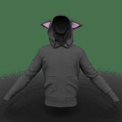 Cat Hoodie Black-Pink Male