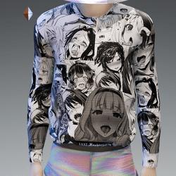 Black and White Ahegao Sweatshirt