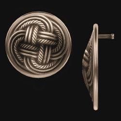 Celtic Disk Earrings - Gold