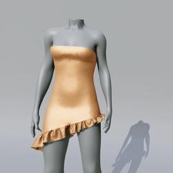 SUZY Apricot Asymetrique Dress