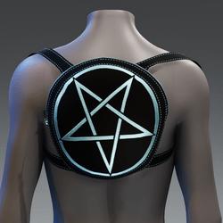 Metallic Pentagram Backpack [Blue]