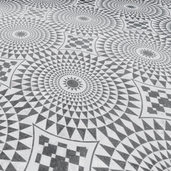 Italian Mosaic Floor /black and white