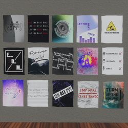 15 music posters collection