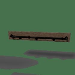 Industrial Coat-Rack Dark Metal