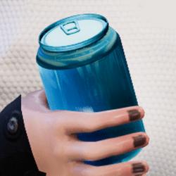 Bottle aqua in arm
