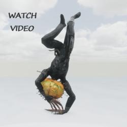 Breakdance  pumpkin Monster