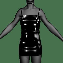 Black Dress w collar