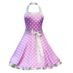 Fifties Rockabilly Polka Dot Dress lilac