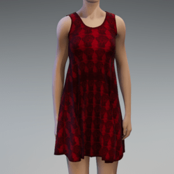 Sleeveless Dress - Red