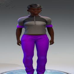 Jeans Slouchy Purple