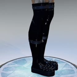 "Spiked boots ""Latex"""