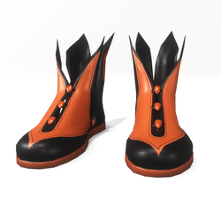 Warlock - Wiccan shoes for male avatar 2 - orange