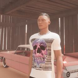 FREE Drippin' Glitchy Skull T-Shirt