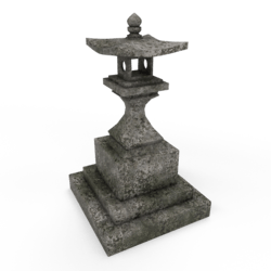 Japanese stone lantern [B]