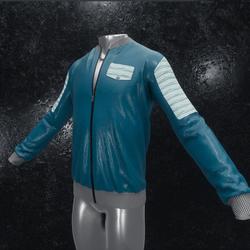 Leather Jacket Ron dark blue