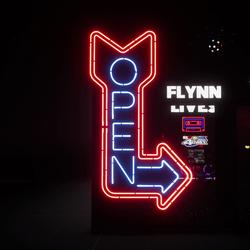 Neon Open Arrow Sign
