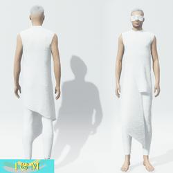 Futuristic Goth for Men White