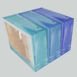 Computer case - blue colors