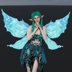 Animated Blue Fairy Wings [Necklace Slot]