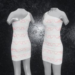 Dress Maja Triangle white