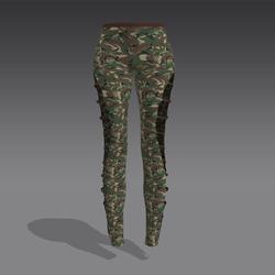 Green Camo Leggings - Brown Straps (MsAquaria)