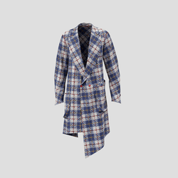 Trailblazer blue white checked