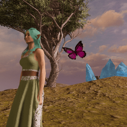 Animated Butterfly pet pink [Necklace slot]