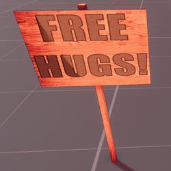 Sign free hugs