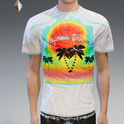 White California Dream Pocket T-Shirt - Male