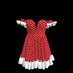 Baby Doll Vintage Polka Dot Dress 09