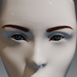 Eyes (blue) and brows (red) for the Irene Head by Apocalypse Bunnies