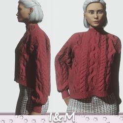 woolen jacket red