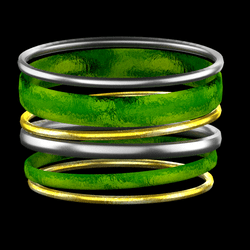 holiday bangles green
