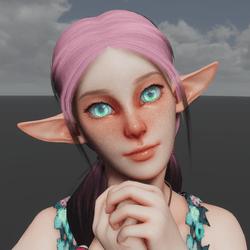 Wood Elf Avatar (Emissive Eyes)