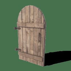 Wooden Door Rounded
