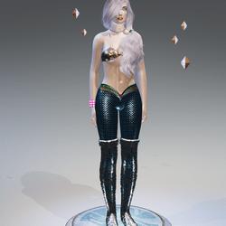 Blue Mermaid Leggings - Female