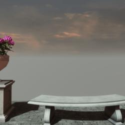 POT FLOWER+BENCH
